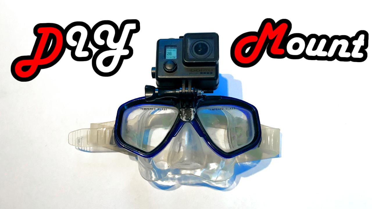Scuba Mask Gopro Mount Scubamask Mask Divingmask Taucherbrille Tauchbrille Tauchermaske Maske Kamera Camera Diving Tauchen befestigen Befestigung