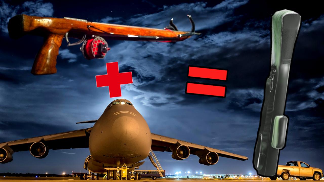 Travel Speargun airplane fly flight fliegen harpune flugzeug mitnehmen airline transport