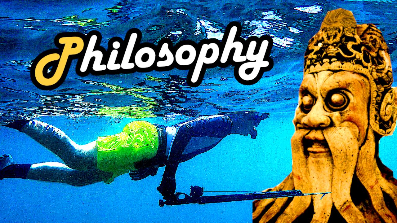 Philosophy philosophie fischen angeln spearfishing speefischen harpunieren fishing rod sense food