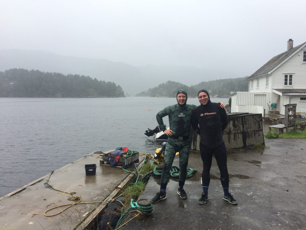 Spearfishing Norway Fjord