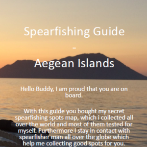 Aegean Islands Spearfishing Cover Ägäische Inseln Harpune