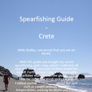 Spearfishing Crete Kreta Maps Guide Tutorial Spots Harpunieren Speargun GER