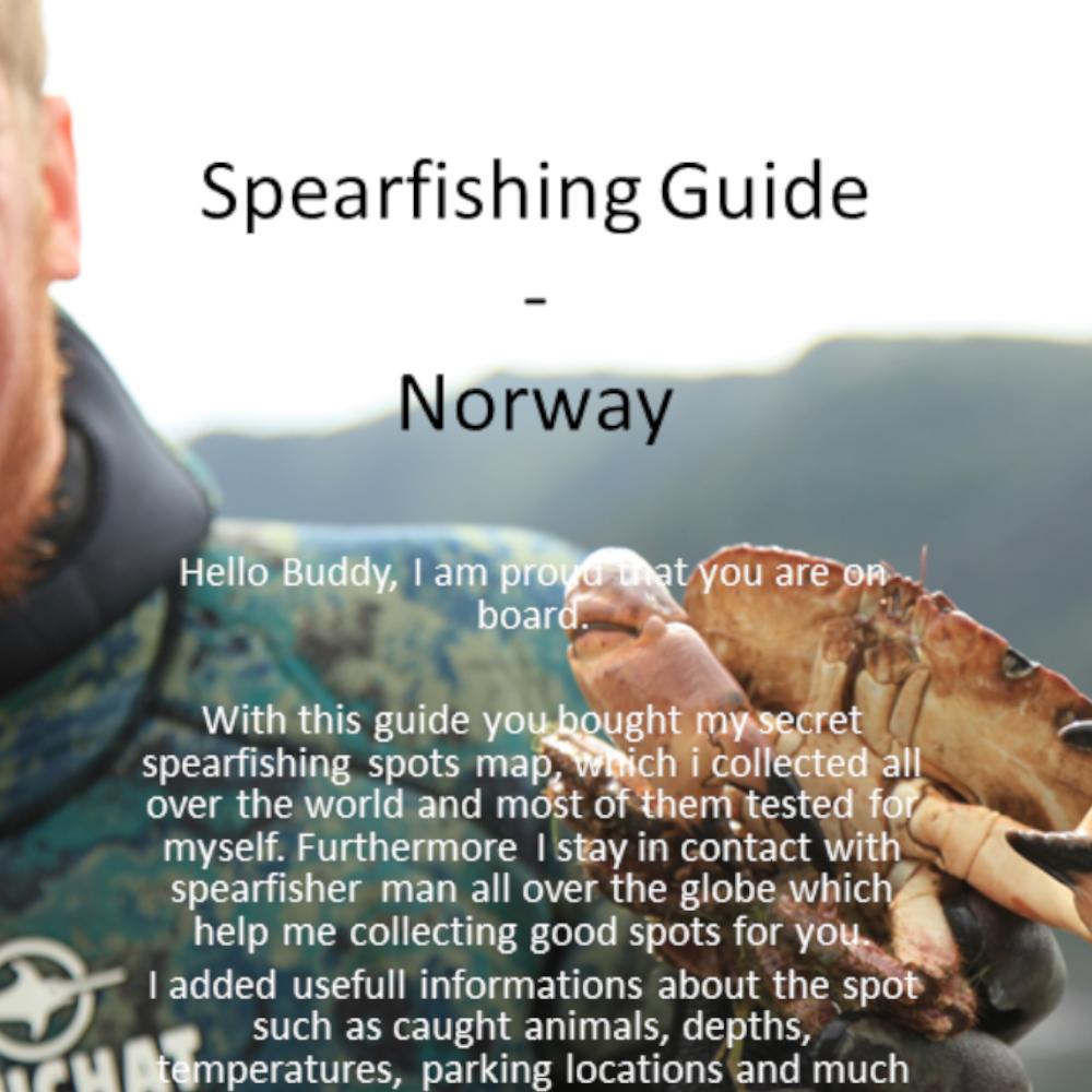 Spearfishing Norway Norwegen Spots Karten Spot Fischen Angeln Fishing Norge Speargun GER