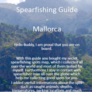 Spearfishing Mallorca Majorca Spain Spanien Speerfischen Maps Guide Tutorial Spots Harpunieren