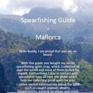 Spearfishing Mallorca Majorca Spain Spanien Speerfischen Maps Guide Tutorial Spots Harpunieren GER