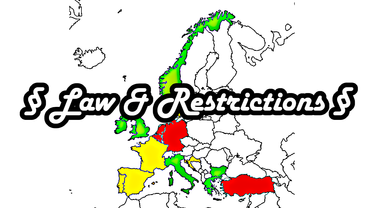 Spearfishing law restriction license turkey germany france netherlands england uk spain italy bulgaria greece norway denmark irland portugal schottland allowed europe laws countries