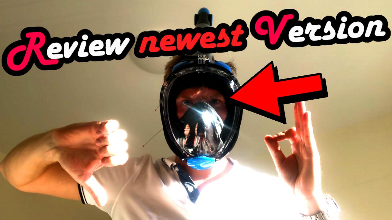 Fullface Snorkel Mask 2019 newest neuste Version Gesichtsmaske Gesichtsschnorchelmaske schnorcheln diving apnea freediving spearfishing Full Face Dive
