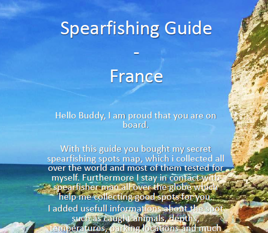 Spearfishing Guide and Maps - North France - Calais to Bretagne