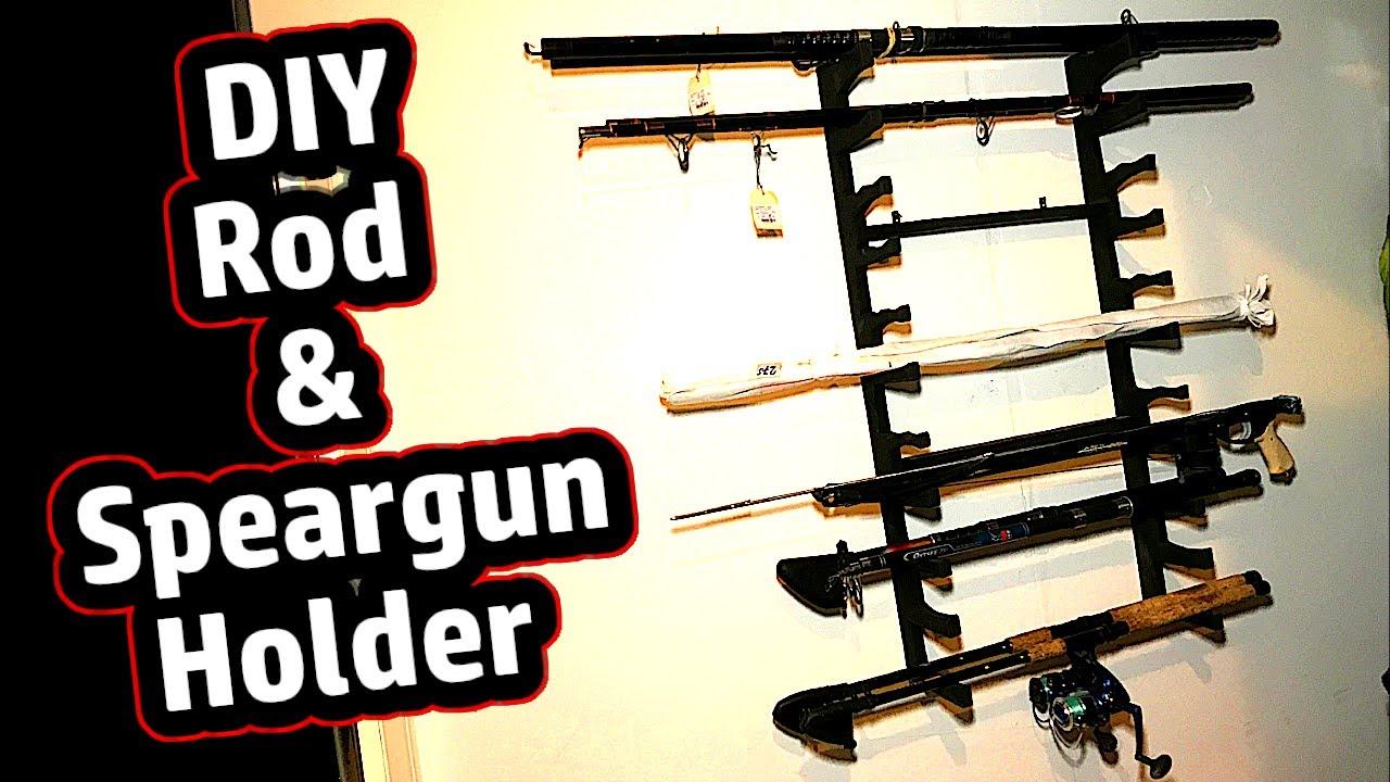 Angelruten Wandhalterung Halterung Rod Holder Speargun Holder Holding Rack