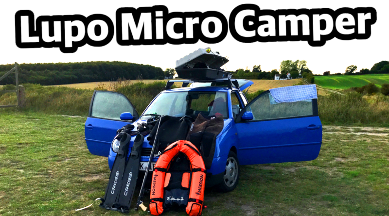 VW Lupo Micro Camper Mikro Camping umbauen Kleinwagen schlafen Spearfishing sleep in a small car conversion explorer